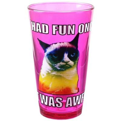 Just Funky Grumpy Cat Fun 16oz Pint Glass