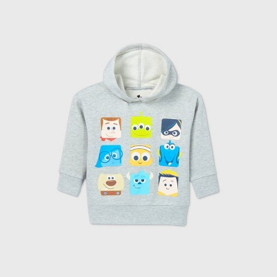 Toddler Disney Pixar Hooded Sweatshirt - Gray 2T - Disney Store