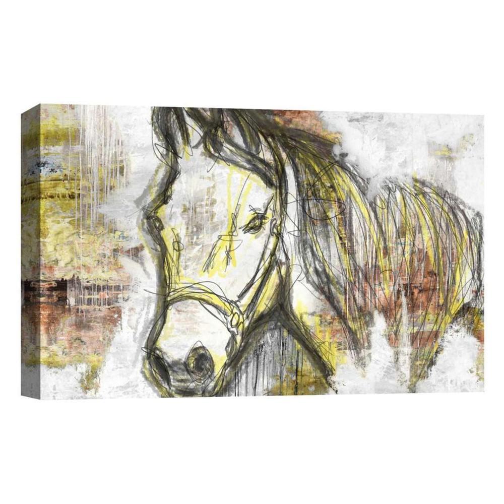 Golden Horse Decorative Canvas Wall Art 11