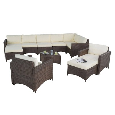 6pc Studio Shine Collection With Modular Sectional Sofa 2 Armchairs 2 Ottomans And Coffee Table W Unlimited Target