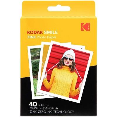 Kodak 3.5x4.25 inch Premium Zink Print Photo Paper  Compatible with Kodak Smile Classic Instant Camera