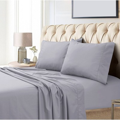 King 800 Thread Count Extra Deep Pocket Sateen Sheet Set Gray - Tribeca Living