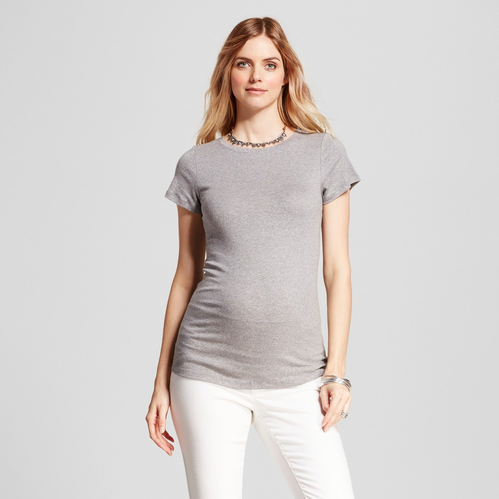 Maternity Crew Neck T-Shirt - Isabel Maternity by Ingrid & Isabel Medium Heather Gray XS, Infant Girl's