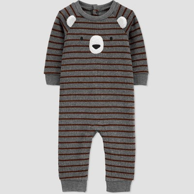 Baby Boys' Bear Rompers - Just One You® made by carter's Gray Newborn