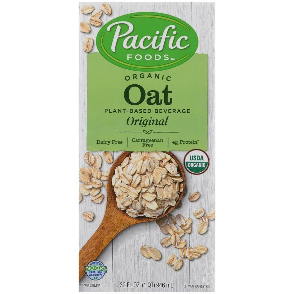 Pacific Foods Organic Oat Non Dairy Beverage 32 Fl Oz