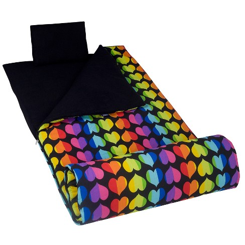 Wildkin Rainbow Hearts Original Sleeping Bag - image 1 of 3