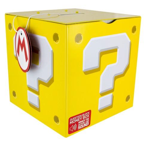 Nintendo Super Mario Question Block Slot Bank - image 1 of 2