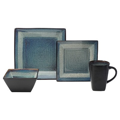 Oneida Adriatic 16pc Dinnerware Set Midnight Blue