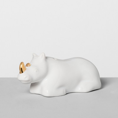 Rhino Stoneware Salt Shaker White - Opalhouse™