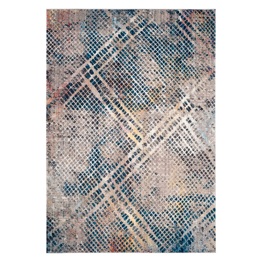 9'X12' Geometric Area Rug Blue - Safavieh