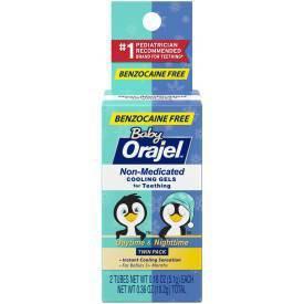 Orajel Non-Medicated Daytime/Nighttime Cooling Gels Twin Pack - 0.36oz