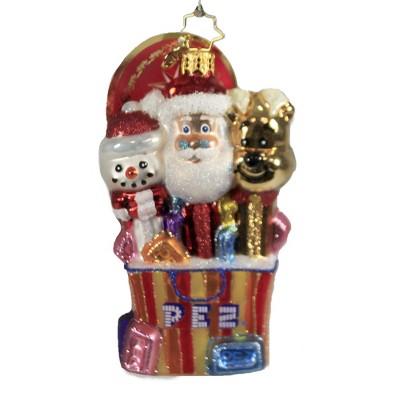 "Christopher Radko 5.0"" Perfect Christmas Pezent Ornament Pez  Candy Santa  -  Tree Ornaments"
