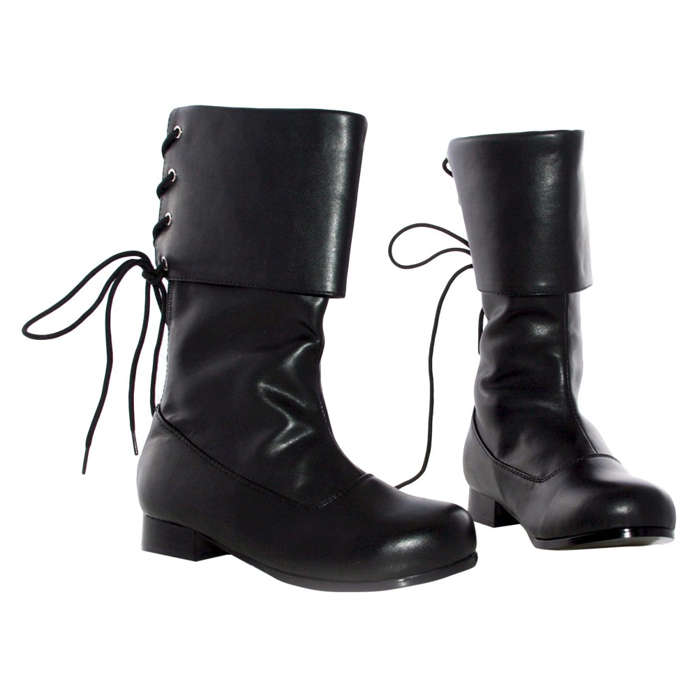 Halloween Girls' Sparrow Boots Black - Costume Medium