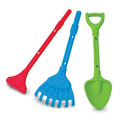 American Plastic Toys APT-01230 28 Inch 3 Piece Deluxe Rake, Shovel, and Hoe - image 1 of 2