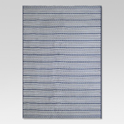 Pattern Stripe Outdoor Rug Blue - 9'x12' - Threshold™