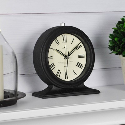 "5"" x 2"" x 5.5"" Antollini Tabletop Clock Black - FirsTime & Co."