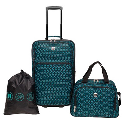 Skyline Carry On Luggage Set 3pc Set - Teal