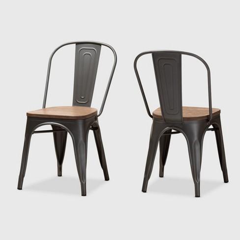 Set Of 2 Henri Tolix Finished Steel, Target Tolix Chairs Comfortable