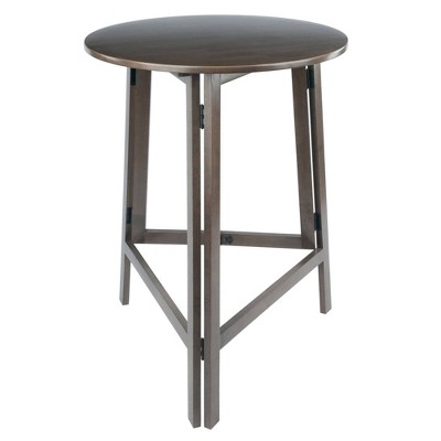 Torrance High Round Bar height Table Oyster Gray - Winsome