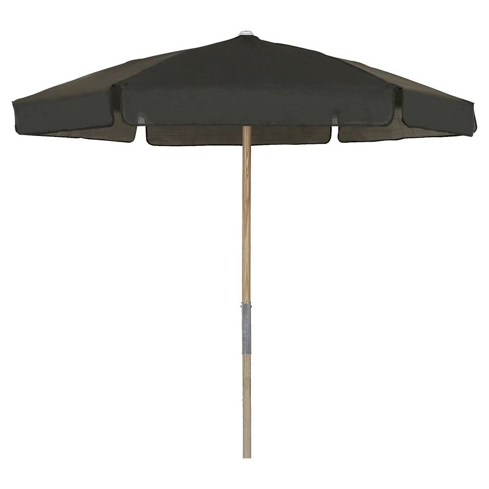 Image of FiberBuilt 7.5' Patio Umbrella Vinyl Weave Black