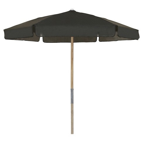 FiberBuilt 7.5' Patio Umbrella Vinyl Weave Black - image 1 of 1