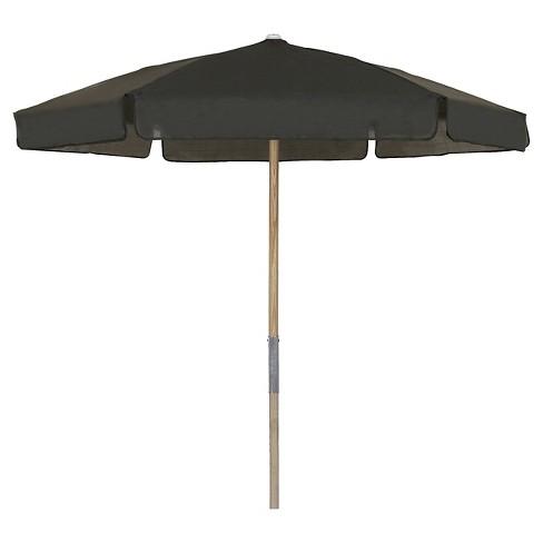 About this item - FiberBuilt 7.5' Patio Umbrella Vinyl Weave Black : Target