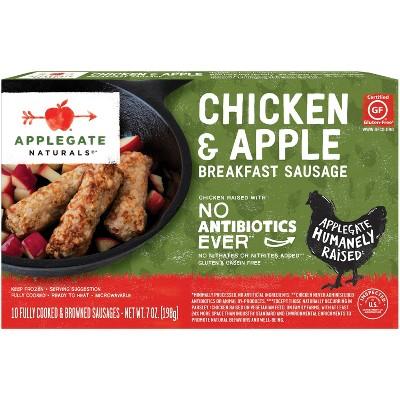 Applegate Naturals Chicken & Apple Breakfast Sausages - Frozen - 7oz/10ct