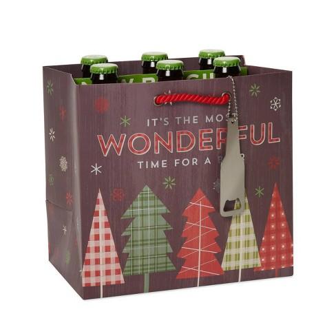Papyrus Christmas Wonderful Beer Beverage Gift Bag - image 1 of 3