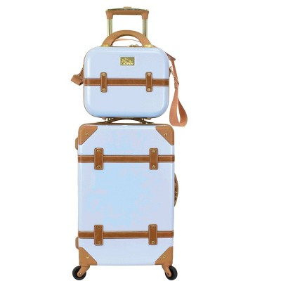 Chariot Travelware Gatsby 2pc Luggage Set - Ice Blue