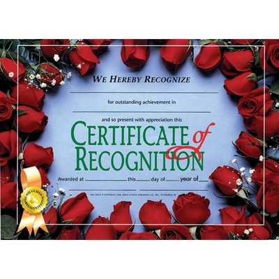 Hayes Recognition Certificate Holder, 11 x 8-1/2 inches, Paper, pk of 30