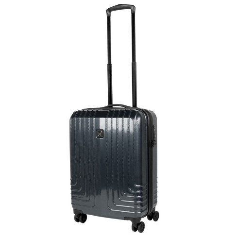 "Travel Hardware 20"" Hardside Spinner Carry On Suitcase - Charcoal - image 1 of 10"