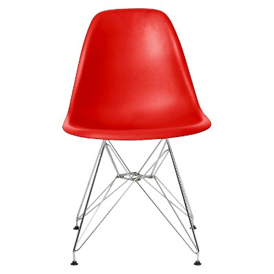 Set of 2 Paris Molded Plastic Chair Red - AEON