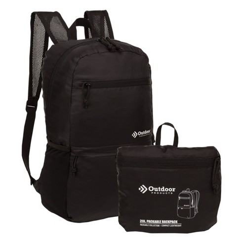 ab23f560d Outdoor Products 20L Packable Backpack - Black : Target