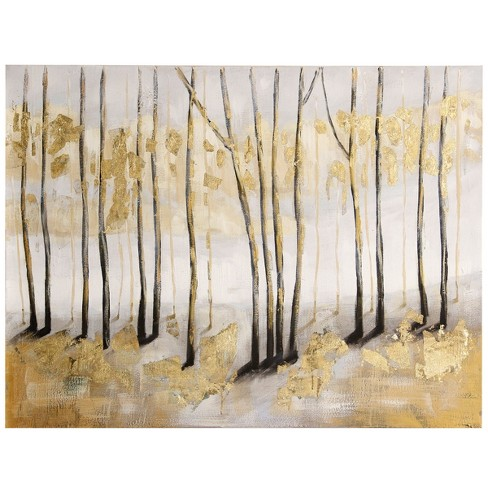 """36"""" Textured Landscape Painted Canvas Decorative Wall Art - StyleCraft - image 1 of 2"""