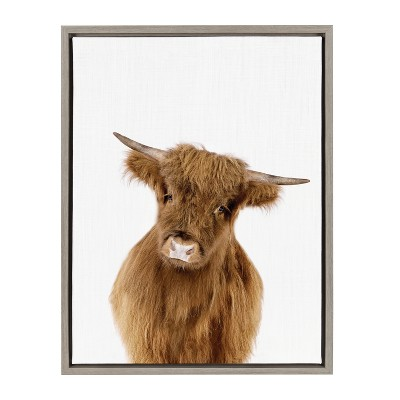 """18"""" x 24"""" Sylvie Young Highland Framed Canvas by Amy Peterson Gray - Kate and Laurel"""