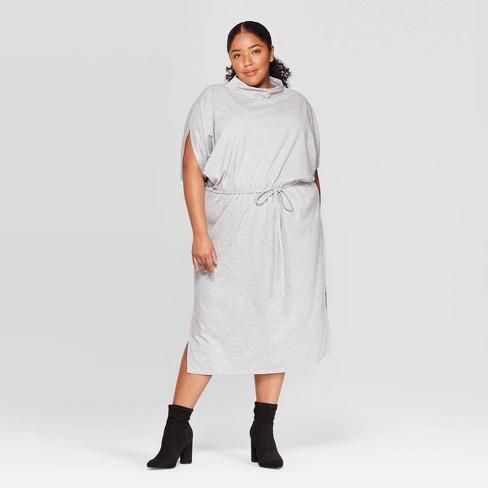 Women's Plus Size Elbow Sleeve Turtleneck Dress - Prologue™  - image 1 of 3