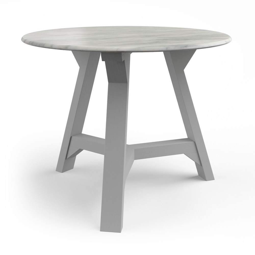 Aubey Side Table with Faux Marble Top Gray - Aeon