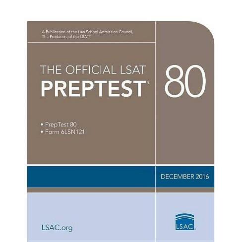 The Official LSAT Preptest 80 - (Official LSAT PrepTest) by  Law School Council (Paperback) - image 1 of 1