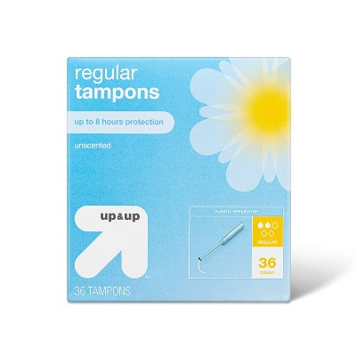 Tampons - Regular Absorbency - Plastic - 36ct - up & up™