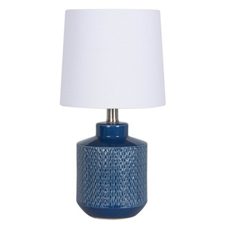 Pattern Ceramic Table Lamp Blue (Includes Energy Efficient Light Bulb) - Project 62™