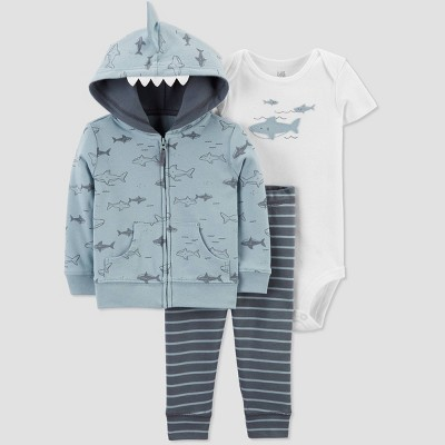 Baby Boys' Shark Top & Bottom Set - Just One You® made by carter's Blue