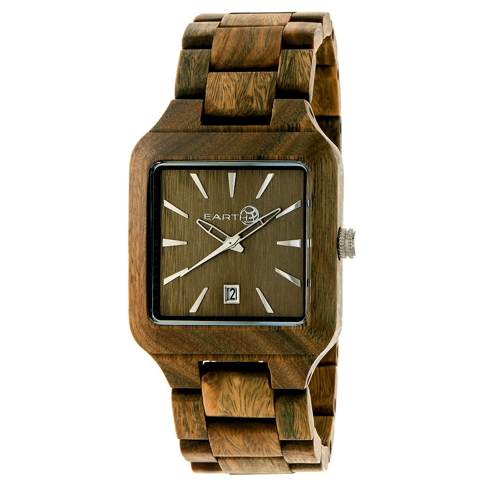 Image of Earth Wood Men's Arapaho Eco - Friendly Sustainable Wood Bracelet Watch - Olive, Size: Small, Green Tree