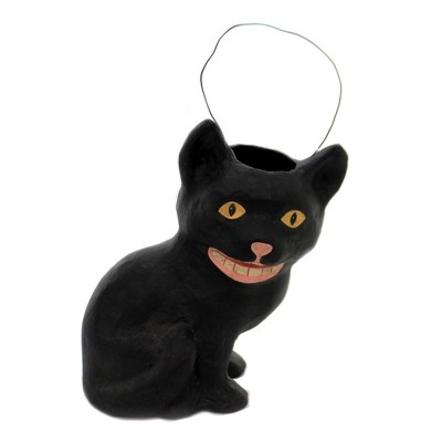 """Halloween 10.75"""" Mischievous Cat Candy Bucket Retro Spooky  -  Decorative Figurines"""