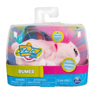 """Zhu Zhu Pets - Vacation Rumer 4"""" Hamster Toy with Sound and Movement"""