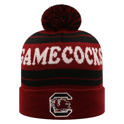 NCAA South Carolina Gamecocks Men's Knit Cuffed Beanie with Pom