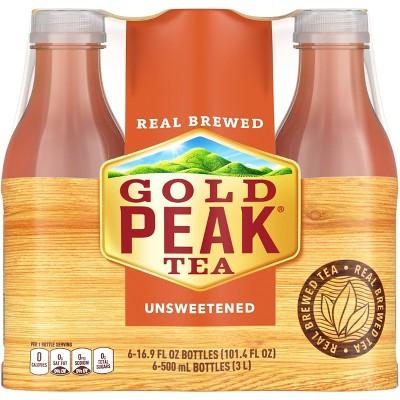 Gold Peak Unsweetened Tea - 6pk/16.9 fl oz Bottles