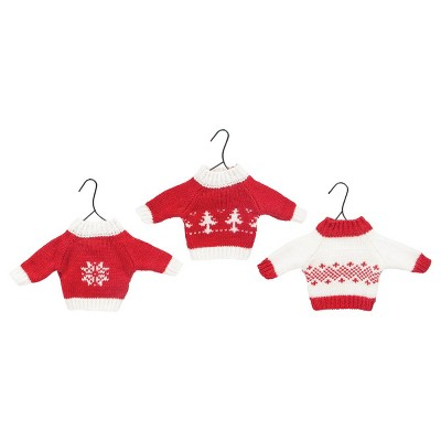 Gallerie II Mini Knit Sweater Christmas Xmas Ornament A/3