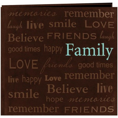 """Pioneer Text Faux Suede Post Bound Album 12""""X12""""-Family"""