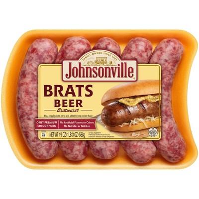 Johnsonville Beer Bratwurst - 19oz/5ct