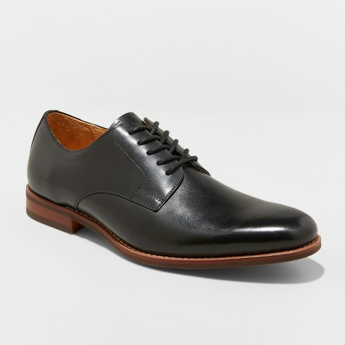 Men's Benito Leather Oxford Dress Shoes - Goodfellow & Co™ Black - image 1 of 3